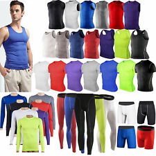 Men Sport Compression Base Layers Tops Tight Skin T-Shirts/Vests/Pant Short NEW