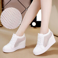 Women Casual Shoes Flat Net Yarn Lace Shoes Breathable casual shoes White shoes