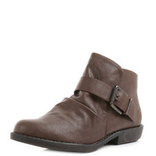 Womens Blowfish Aeon Chocolate Old Ranger Flat Ankle Boots UK Size