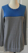 ~Gap~ Women Royal Blue/Navy Striped Crew Neck Sweater~Size XS~NWT