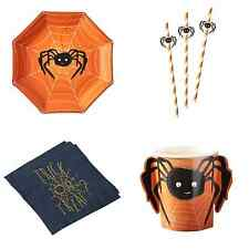 Halloween Spooky Spider Party Tableware - Plates, Cups, Straws & Napkins
