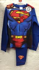 Boys Kids New Superman Novelty With Cape Pyjamas Nighty Costume Party Dress