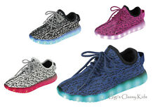New Boys Girls 7 LED Light Up Shoes Sneakers Sport Tennis USB Rechargeable