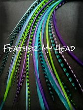 16 Feather Hair Extension Kit  DIY Kit - Beads And Tools -  4 Lengths Available