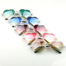 Fresh Metal Frame Sunglasses Women Love Heart Shape Lens Eyewear Eyeglasses new