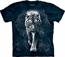 White Tiger Stalk Zoo Animals T Shirt Child Unisex Mountain