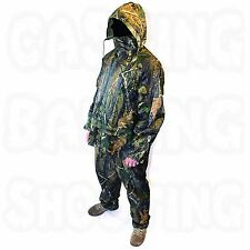 CAMO TWO PIECE SUIT WATERPROOF HOODED CAMOUFLAGE FISHING CAMPING HUNTING NEW