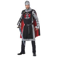 Mens Medieval Knight Halloween Costume - Black/Red