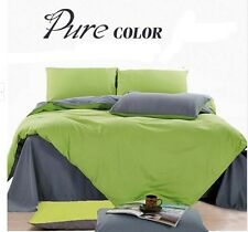 NEW Pure color Single/Double/Queen/King Size Bed Quilt/Doona/Duvet Cover Set