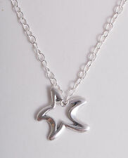 STERLING SILVER 925 FUNKY STAR STARFISH PENDANT CHAIN CHARM NECKLACE