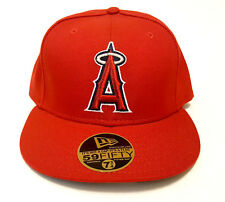 NEW ERA 59FIFTY LOS ANGELES ANGELS OF ANAHEIM RED CAP MLB BASEBALL FITTED HAT
