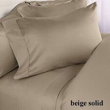 BEIGE 800TC EGYPTIAN COTTON COMPLETE BEDDING COLLECTION SHEET SET,DUVET COVER