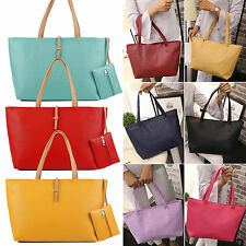 Designer Large Womens PU Leather Tote Shoulder Bag Handbag Ladies Messenger