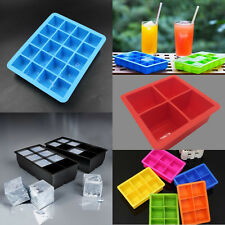 4/6/8/15/20-Cavity Cube Ice Pudding Jelly Maker Mold Mould Tray Silicone Tool zh