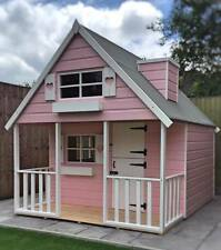 Childs Wooden 2 Storey Playhouse Wendyhouse - 6ft x 6ft to 6ft x 8ft