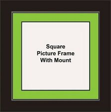 NEW Square Picture Frame - Sage Green Mount Made in UK Unique Photo Frames
