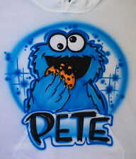 Airbrushed Custom Cookie Monster Muppets T-shirt Bodysuit Hoodie Pillowcase
