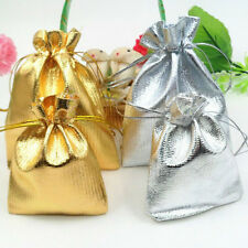 25/50/100Pcs Organza Drawstring Wedding Favor Party Candy Gift Bags Pouch 12x9CM
