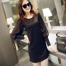 New Sexy dress women dress patty dress mini dress Long sleeved T-shirt dress