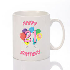 Personalised Female Birthday Mug - ANY AGE - Personalised With YOUR Message