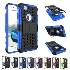 TPU Shockproof Stand Hybrid Silicone Rubber Cover Case For Apple iPhone 7/7plus