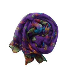 Retro Women Long Elegant Pashmina Soft Cotton Silk Wrap Shawl Scarf Voile Stole