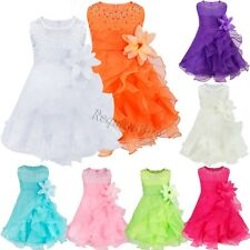 Baby Girls Toddler Party Princess Wedding Party Pageant Tutu Kids Bowknot Dress