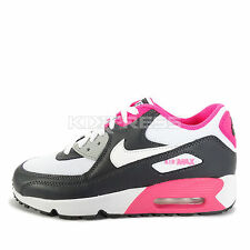 Nike Air Max 90 Mesh GS [833340-001] NSW Running Anthracite/White-Hyper Pink