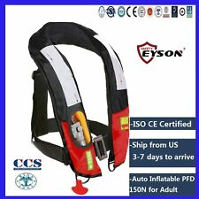 PFD Auto Inflatable Life Jacket Vest 150N Neck Type Eyson for Adult