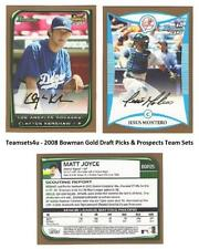 2008 Bowman Gold Draft Picks & Prospects Baseball Sets ** Pick Your Team Set **