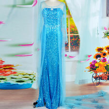 frozen adults women princess elsa costume snow queen cosplay Party Fancy Dress