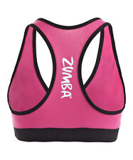 NEW with tags ZUMBA Flash V-Bra Top Sports S M L XL Berry/Pink Awesome bra