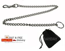 Keyring chain Extra Long Metal Keychain Silver Hipster Key Wallet Belt Ring Clip