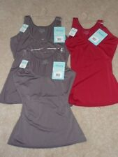 New SPANX ASSETS Fantastic Firmers Shaping Tank Brown Metal Red 206 Scoop Neck