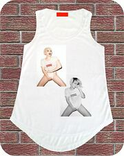 Sexy Rihanna Lady Gaga Terry Present Women T shirt Vest Top Picture Fashion Book