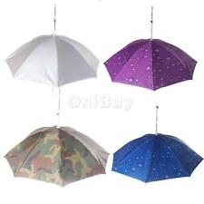 Outdoor Fishing Camping Hiking Folding Umbrella Hat Head Cap Brolly Headwear