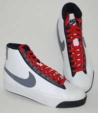NIKE BLAZER MID (GS) 318705 103 YOUTH SIZE WHITE / GRAY ATHLETIC LIFESTYLE SHOES