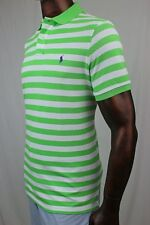 "POLO Ralph Lauren Mesh Custom Fit Polo  ""Force Green"" Stripes Purple  Pony ~NWT"