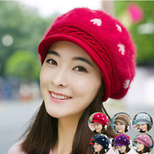 Women Lady Braided Winter Warm Baggy Cap Knit Oversized Slouch Crochet Ski Hat 8