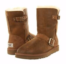 UGG Australia Classic Short Dylyn Chestnut Bomber Buckle Boots 6 8