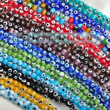 DIY 10/50/100pcs 6mm Lampwork Glass Crystal Jewelry Findings Loose Spacer Beads