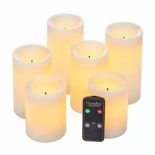 Real Wax Flameless Candle Set w/Dual Timer Feature and Remote Control - Duracell