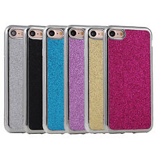 10pcs/lot Chrome Bling Glitter Design TPU Gel Cover Soft Case for iPhone 7/7plus