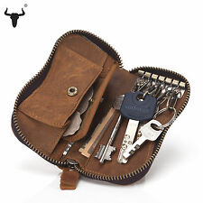 Genuine Leather Key Wallets Cowhide Unisex Card Case Car Key Bag Key Holder