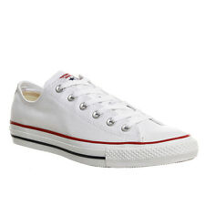 CONVERSE MENS WHITE ALL STAR OX LOW TRAINERS