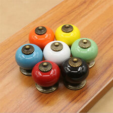 Pull Drawer Multicolor New Knobs Ceramic Handles Cupboard Door Cabinet Spherical