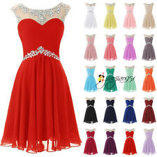 Stock Short Formal Evening Bridesmaid Dresses Ball Prom Party Cocktail Gown 6-20