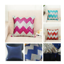 """1X SHINY Geometric SEQUINS THROW PILLOW CASES CUSHION COVERS 16"""""""