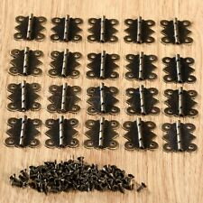 Antique Brass Jewelry Box  Door Butterfly Hinges with Screws 20x25mm 4/12/20Pcs