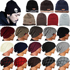 Chic Women Men Knit Winter Warm Ski Crochet Slouch Cap Baggy Beanie Hat Oversize